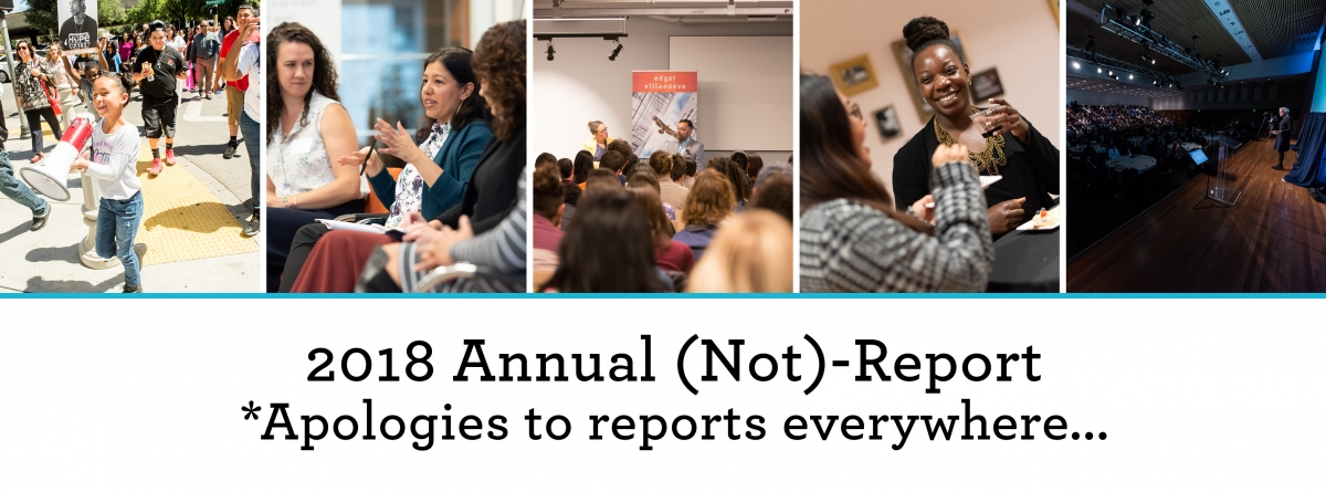 Photos of NCG events combined to be the title image for NCG's Annual (Not)-Report