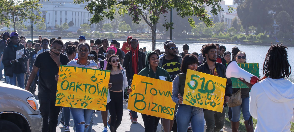 Urban Peace Movement leads a march against displacement at 510 Day |Photo:Malik Hardcastle