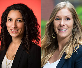 Headshots of blog interviwer and interviewee from left to right Cristina Huezo and Kayla Ballard