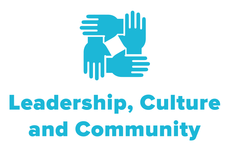symbol of four hands coming together to represent NCG's leadership, culture, and community work.