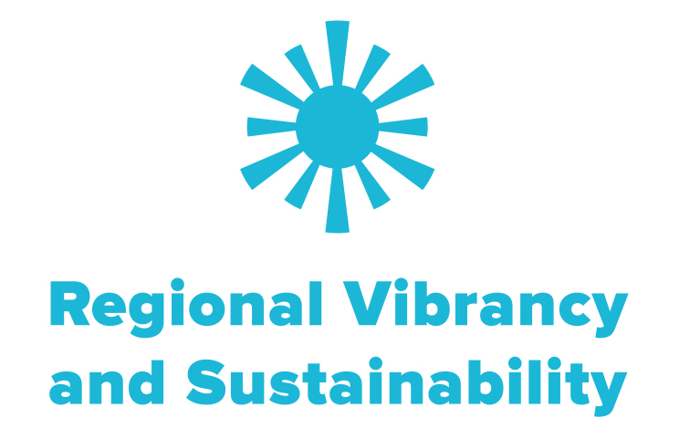symbol of a sun to represent NCG's regional vibrancy and sustainability work.
