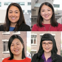 4 headshots from top left to bottom right: Zuleika Godinez, Pajouablai Monica Lee, Blia Moua, Program Officer, Brittany Redelfs