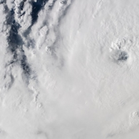 Satellite photo of Hurricane Dorian