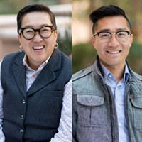 Headshots of Alice Y Hom and Daniel Lau
